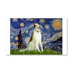 Starry Night & Borzoi Car Magnet 20 x 12