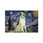 Starry Night & Borzoi Rectangle Magnet (10 pack)