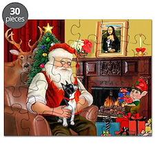 Santa's Boston Terrier Puzzle