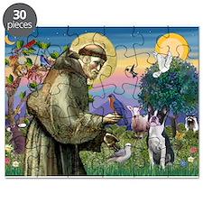 St Francis & Boston Terrier Puzzle