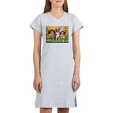 Angels & Boston Terrier Women's Nightshirt