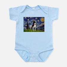 Starry Night/Boston Terrier Infant Bodysuit