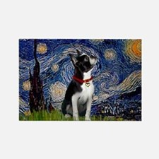 Starry Night & Boston Rectangle Magnet