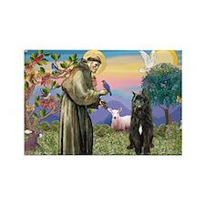 St Francis & Bouvier Rectangle Magnet (10 pack)
