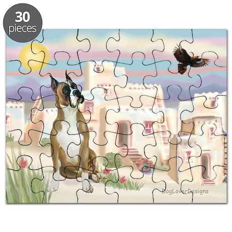 Adobe Village/Boxer Puzzle