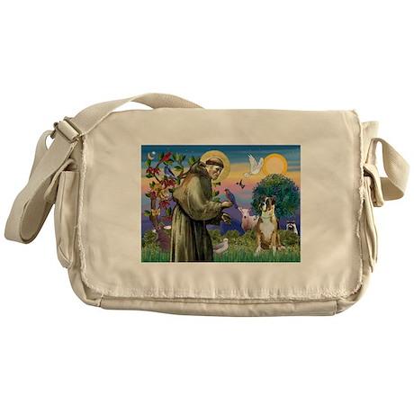 Saint Francis & Boxer Messenger Bag