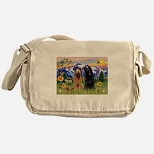 Cool Briard Messenger Bag