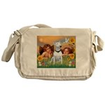Cherubs / Bull Terrier Messenger Bag