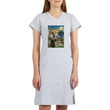 St Francis/Cairn Terrier Women's Nightshirt