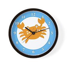 Orange Crab Wall Clock
