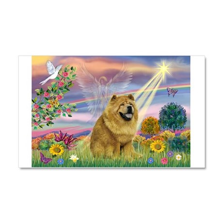 Cloud Angel & Chow Chow Car Magnet 20 x 12