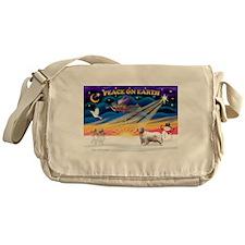 XmasSunrise/Clumber Spaniel Messenger Bag