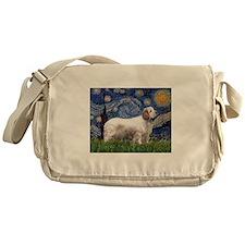 Starry Night Clumber Spaniel Messenger Bag
