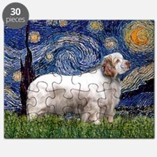 Starry Night Clumber Spaniel Puzzle