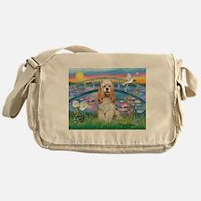 Lilies /Cocker Spaniel Messenger Bag