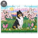 Blossoms / Collie (tri) Puzzle