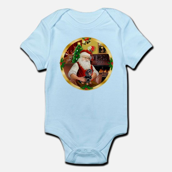Santa's Dachshund #4 Infant Bodysuit