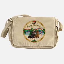 XmasMusic1/2 Dachshunds Messenger Bag