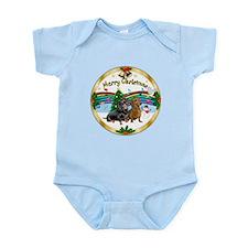 XmasMusic1/2 Dachshunds Infant Bodysuit