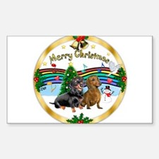 XmasMusic1/2 Dachshunds Sticker (Rectangle)