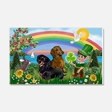 St Patricks Day Dachshunds Wall Decal