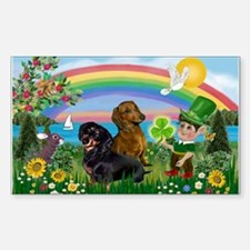 St Patricks Day Dachshunds Decal