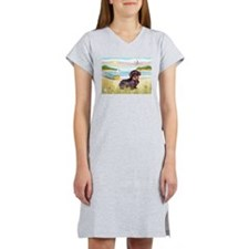 Rowboat / Wire Haired Dacahsh Women's Nightshirt