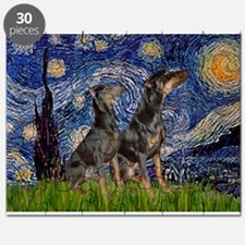 Starry Night & Dobie Pair Puzzle