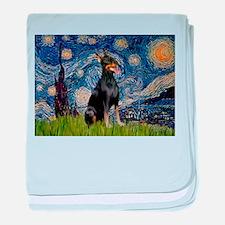 Starry Night Dobie baby blanket