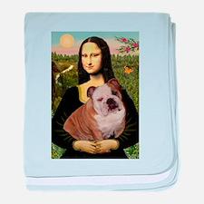 Mona's English Bulldog baby blanket