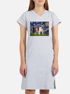 Cute English bulldog art Women's Nightshirt