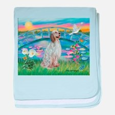 Lilies / English Setter baby blanket