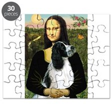 Mona & English Springer (BW) Puzzle
