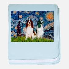 Starry Night & Springer baby blanket