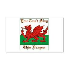 Unique Wales flag Car Magnet 20 x 12