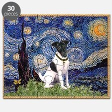 Starry Night Fox Terrier (#1) Puzzle