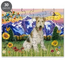 Wire Fox Terrier in Mt. Country Puzzle