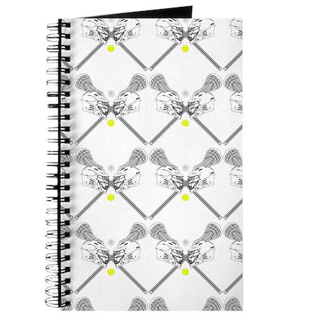 Lacrosse Helmet/Sticks White Journal