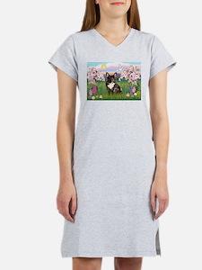 Blossoms & French Bulldog Women's Nightshirt