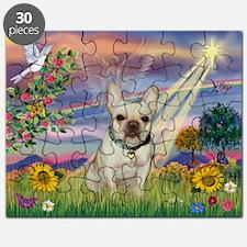 Cloud Angel & French Bulldog Puzzle