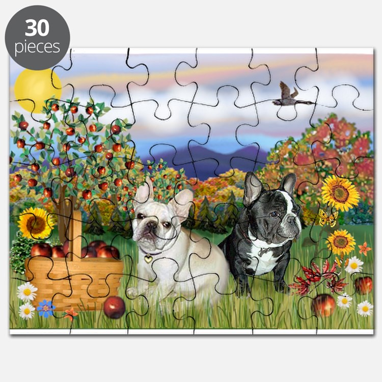 French Bulldog Picnic Puzzle