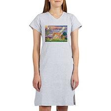 Cloud Angel & Greyound Women's Nightshirt