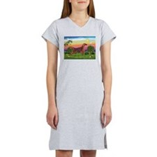 Irish Setter in Bright Countr Women's Nightshirt