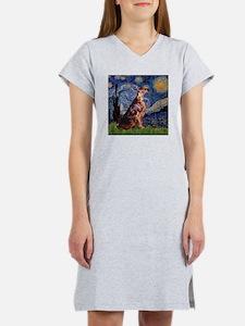 Starry Night Irish Setter (#2 Women's Nightshirt