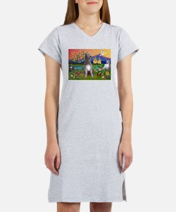 Irish Elf & Irish Wolfhound Women's Nightshirt