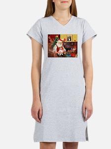 Santa's JRT pup Women's Nightshirt