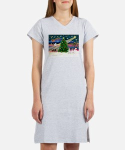 Xmas Magic & JRT pair Women's Nightshirt