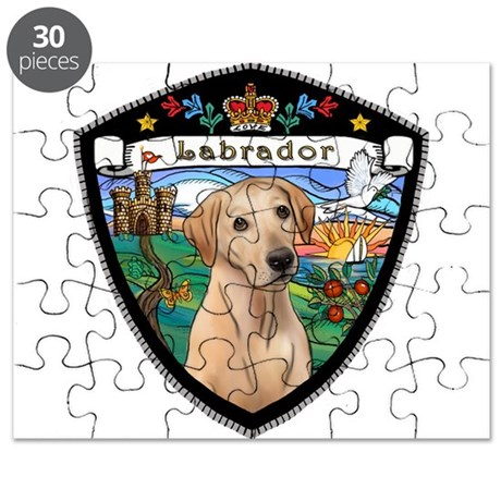 Coat/Arms - Yellow Lab Puzzle