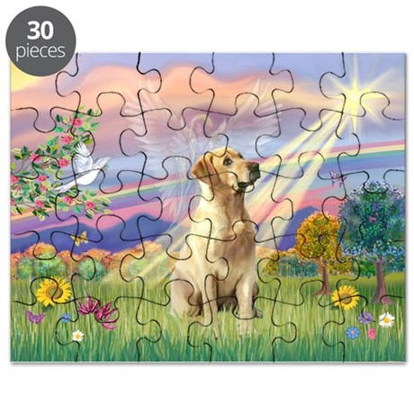 Cloud Angel & Yellow Lab 8 Puzzle