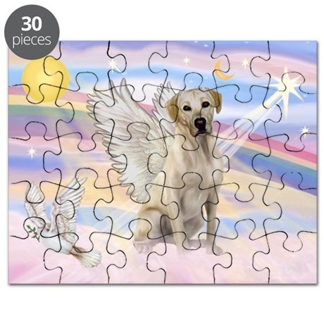 Yellow Labrador Angel Puzzle